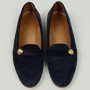 Ralph Lauren Dark Blue Suede Loafers